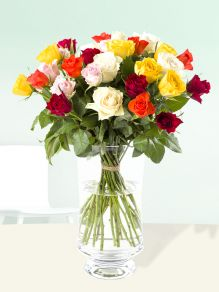 30 colourful roses