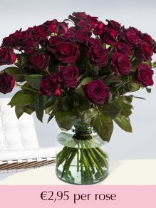 Deep red roses – choose your number