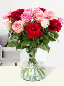Rose bouquet pink-red