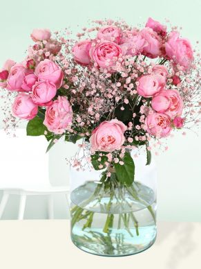 Soft pink spray roses bouquet
