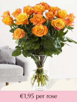 Orange roses – choose your number