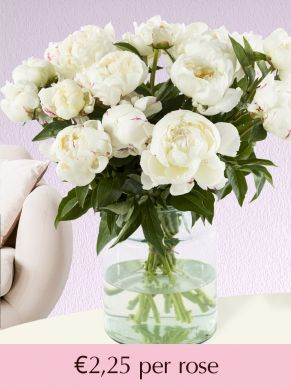 White peonies - choose your number