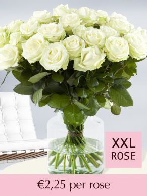 White roses – choose your number