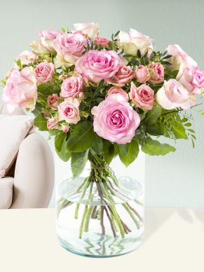 Mix bouquet pink roses