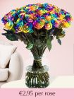 Rainbow roses – choose your number