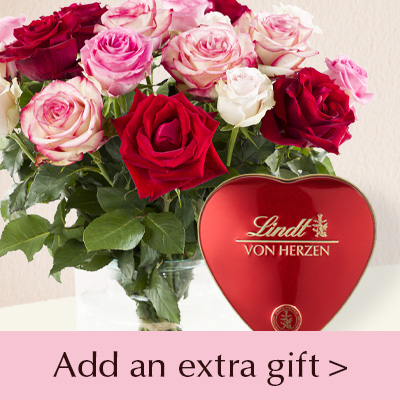 Roses with gifts