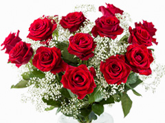 Wedding bouquet red roses
